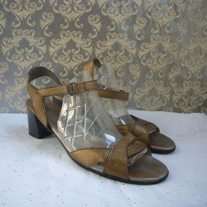 Arche Bronze Ankle Strap Sandal Size 42 / US 11